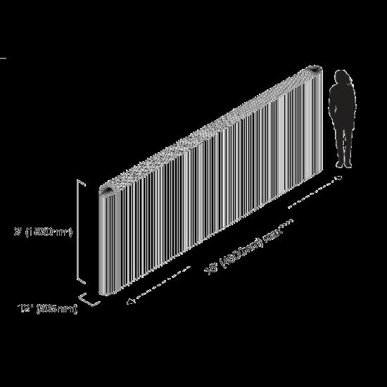 tekening afmetingen softwall molo design 1830 x 305 krafpaper textiel kamerscherm scheidingswand akoestiek verbeteren