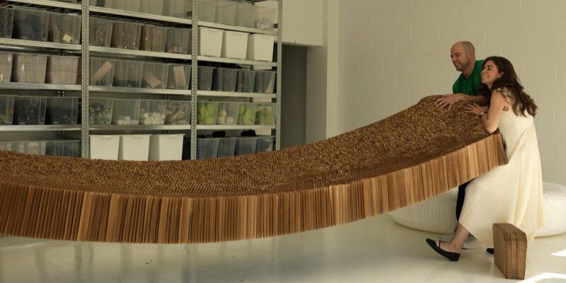 stephanie forsyt Todd MacAllen collectie molo design honingraad structuur harmonica kraftpaper papier