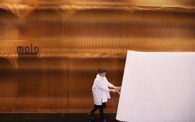 beurswand molo design ifft tokyo scheidingswand kamerscherm kraftpaper papier art4elements pop up beursstand